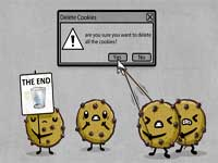 delete cookies from your browser