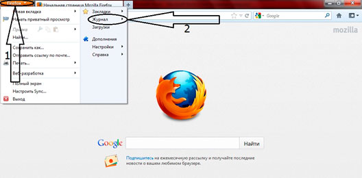 see history in Firefox