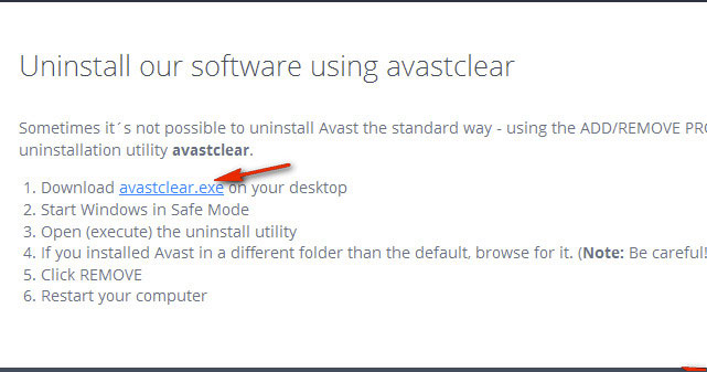 link to download avastclear
