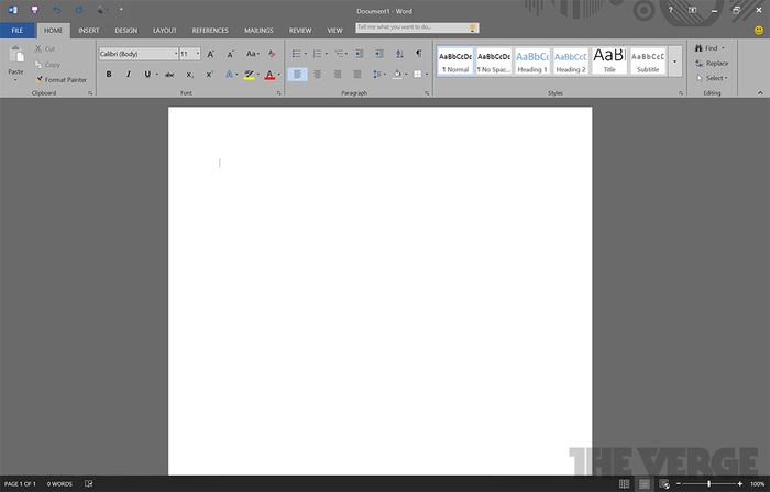 Скриншоты Office 16 Technical Preview